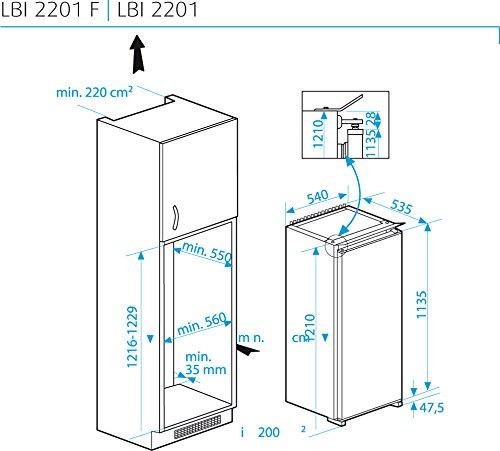Beko LBI 2201 Integrado 204L A+ Blanco - Frigorífico (204 L, SN-ST ...