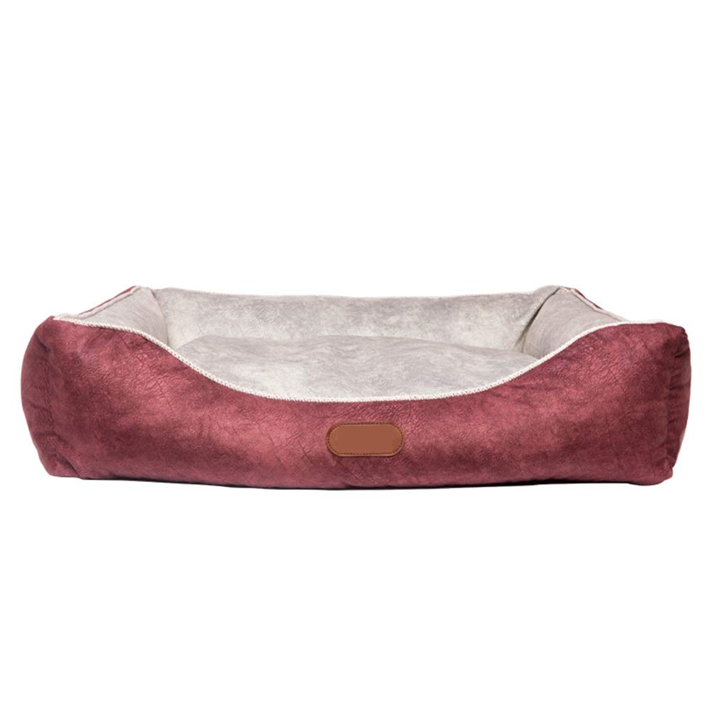 Red L red L QQQWWW Pet Nest Pet Bed Me And My Round Pet Mat Removable And Washable Inner Pad With Zipper (color   Red, Size   L)