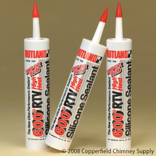 Copperfield 81530 RTV Red Silicone Sealant,10.3 oz. Cartridge, Pack of 12