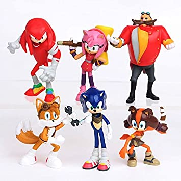Buy Smart Buy Sonic The Hedgehog Amy Rose Tails Doctor Eggman Knuckles The Echidna Action Figure Toy Set 6 Pcs Online At Low Prices In India Amazon In