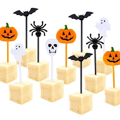 Tatuo Plastic Halloween Picks Halloween Cupcake Topper Picks