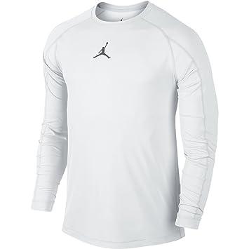 c674b67f9ef1 Nike Mens Jordan All Season Fitted Long Sleeve Training Shirt White Cool  Grey 642406-100 Size Small