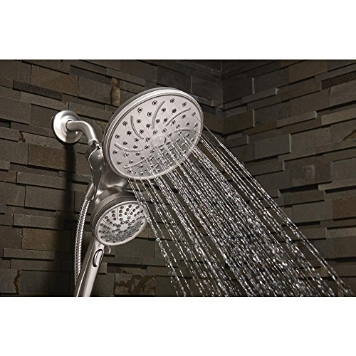 Moen 26008srn Attract 6-Spray Hand Shower and Shower Head Combo Kit with Magnetix in Spot Resist Brushed Nickel