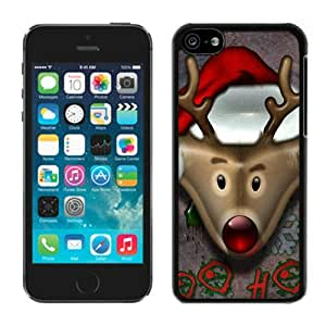Customized Portfolio Iphone 5C TPU Case Christmas Deer Black iPhone 5C Case 4 by Maris's Diary