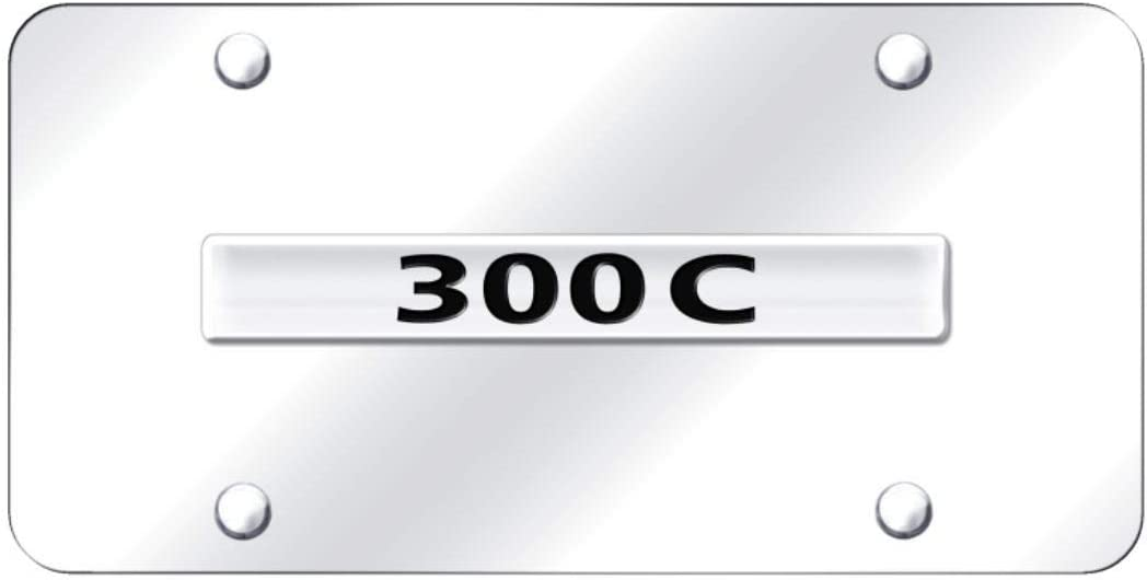 Chrysler 300 Black Numbers Mirror Stainless Steel License Plate