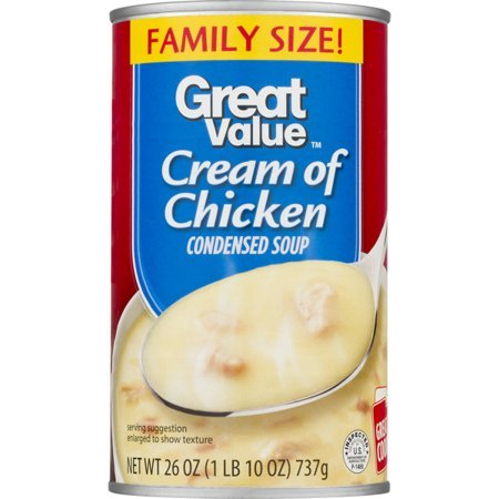 Pack Condensed Value ((8 Pack) Great Value Family Size Cream Of Chicken Condensed Soup, 26 oz)