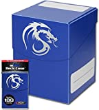 Blue Trading Card Boxes - Gaming Deck Cases - Each Holds 100 Cards - DCLG-BLU - (60 Boxes)