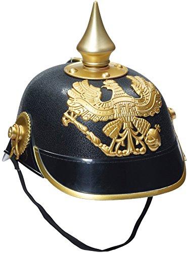 [Forum Novelties - German Officer Pickelhaub Helmet, Black & Gold Colored] (Military Hat Costumes)