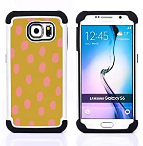 """Pulsar ( Patrón Oro Marrón vibrante Animal"""" ) Samsung Galaxy S6 / SM-G920 SM-G920 híbrida Heavy Duty Impact pesado deber de protección a los choques caso Carcasa de parachoques [Ne"""