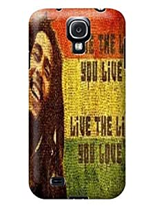 Cool Bob Marley fashionable Lightweight Waterproof Hard Phone Shell Case for Samsung Galaxy s4