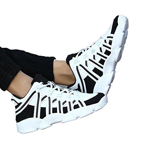 Los Hombres De Invierno Al Aire Libre Del Otoño Del Resorte CHT Estudiantes De Deportes De Ocio Marea Zapatos Corrientes De Tamaño Blanco Negro Rojo Opcional White