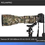 ROLANPRO Camera Lens Clothing Camouflage Rain Cover for Tamron SP 150-600mm F/5-6.3 Di VC USD G2 (A022) Lens Protection Sleeve