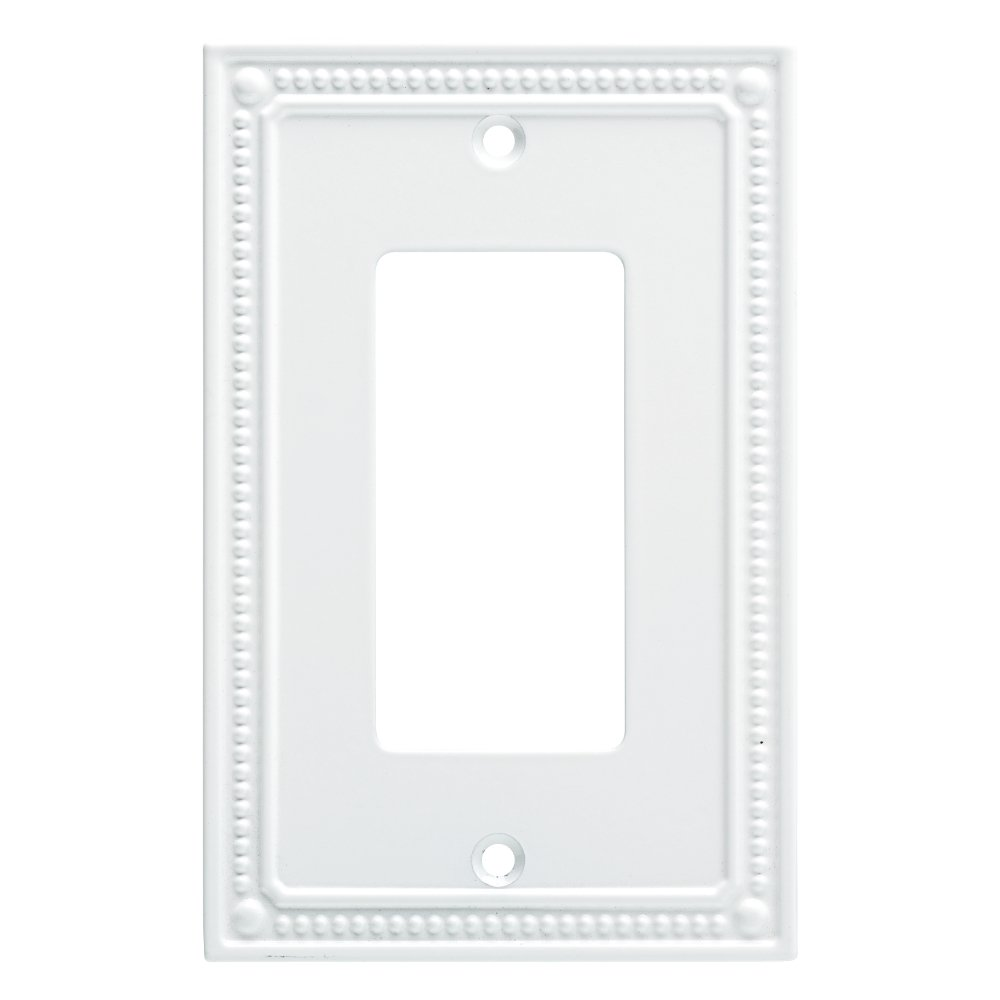 Franklin Brass W35060-PW-C Classic Beaded Single Decorator Wall Plates, Pure White by Franklin Brass