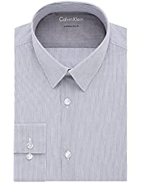 Men's Thermal Stretch Xtreme Slim Fit Stripe Dress Shirt