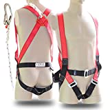 YIZRIO Full Body Safety Harness Climbing Harness Belts for Outdoor Expanding Training Fall Protection Kit | 5-Point Adjustable Personal Protective Rappelling Equip | Universal Construction Industrial