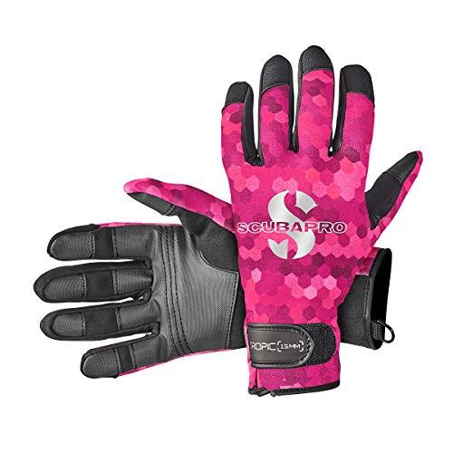 Scubapro 1.5mm Tropic Amara Neoprene Gloves With Velcro Closure M Flamingo