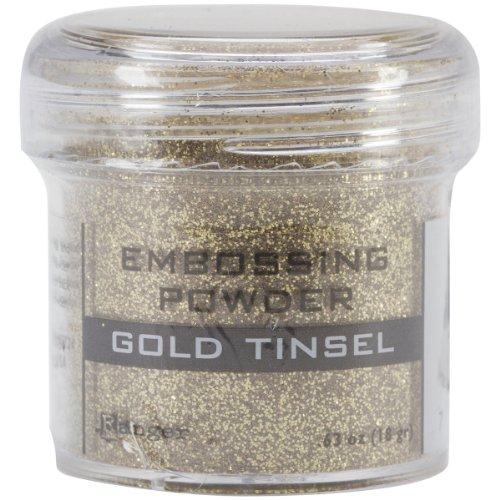 Ranger Embossing Powder, 1-Ounce Jar, Gold Tinsel - Embossing Powder 1 Oz Jar
