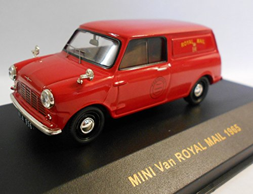 [IXO 1/43 Scale Prefinished Fully-Detailed Diecast Model, 1965 MINI Van, Royal Mail Delivery Vehicle CLC108] (Van Royal Mail)