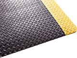 Guardian Safe Step Anti-Fatigue Floor Mat, Vinyl, 3'x5', Blk/Ylw