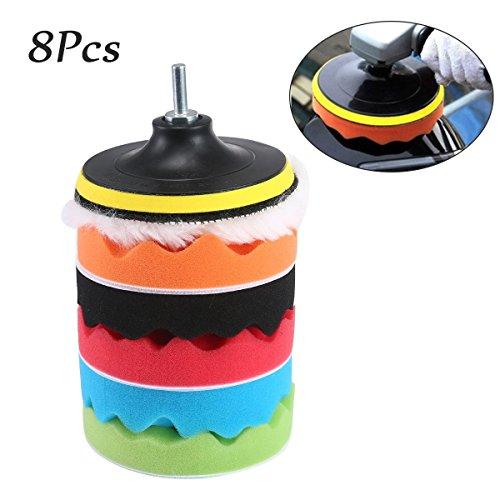 Aolvo - almohadillas para orejas de espuma para pulido de coches, 8 unidades de 5 cm de esponja para pulir el coche, para...