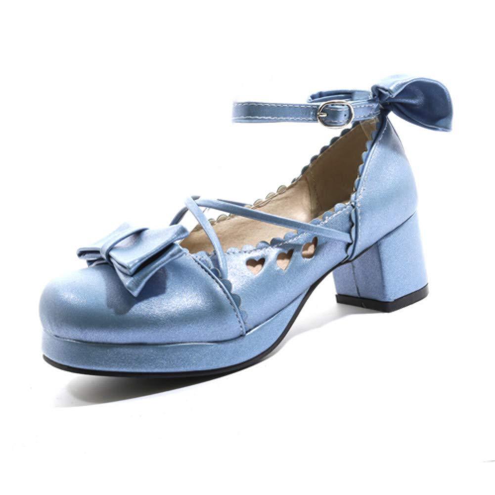 Ai Ya-liangxie Runder Plattform High Heels Damen Pumps Damen Hochzeit Schuhe Frau