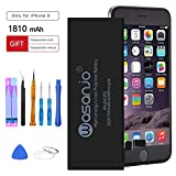 WASANJO Battery Compatible with iPhone 6 Replacement, 1810 mAh 3.82V Li-ion Battery 0 Cycle with Complete Repair Tool Kits Glue Adhesive Strips and Instruction