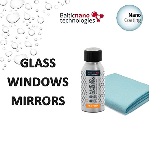 Nano Car Glass Coating Hendlex Glass PRO | Long Lasting Invisible Nano Treatment Hydrophobic Coating for Windshield Window Rain Protection Water Repellent Auto Sealant 50ml