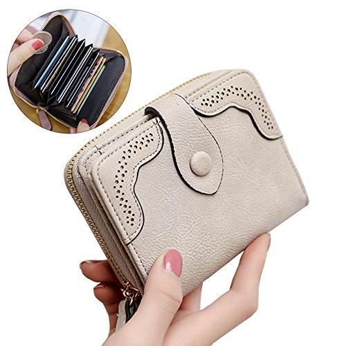 Women Short PU Leather Wallet(Pink) - 7