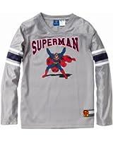 Superman Boys Embroidered Superman V-Neck Jersey (Sizes 10-18)