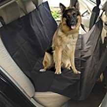 "Pet Seat Cover,Peyou 100% Water Resistant Oxford Fiber Hammock Style Pet Dog Car Seat Cover 56"" Inch Length for Cars, Trucks, SUV's & Vehicles Non Slip and Washable[Black]"