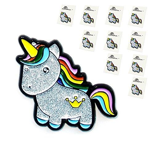 Unicorn Pin Quality Party Favors Glitter Enamel Lapel Pin 1.25