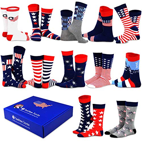TeeHee Special (Holiday) 12-Pairs Socks with Gift Box. (10-13, American-A) -