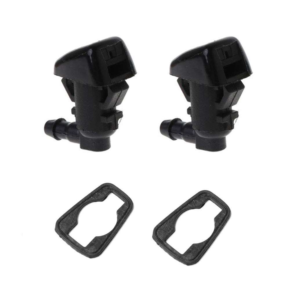 Front Windshield Washer Nozzles kit Replaces 55157319AA, 4806312AA fits for 08-12 Jeep Liberty, 06-10 Jeep Commander, 07-11 Dodge Nitro Spray Jet Kit 2 PCS