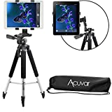 "Acuvar 57"" inch Pro Series Aluminum Tripod with an Acuvar Tablet Mount for Apple iPad, iPad Air, iPad Mini & Most Other Tablets"