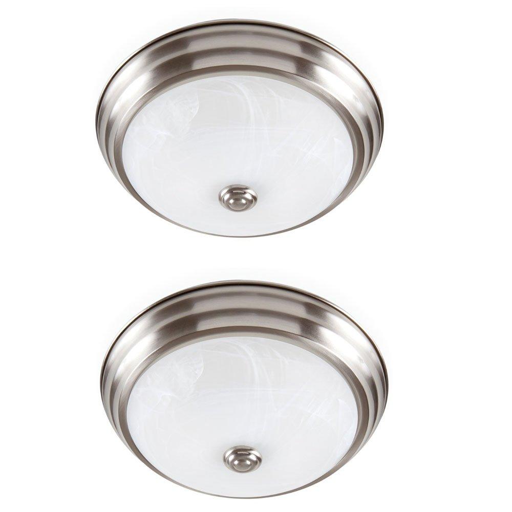 Designers Fountain EVLED502-35D-2 Brushed Nickel LED Flushmount with Alabaster Glass (2 Pack)