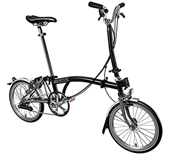 Brompton H6L Superlight 2017 - Bicicleta plegable de titanio, color negro