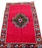 Moroccan Handmade Area Rug Wool Kilim Berber Carpet