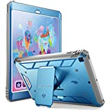 Poetic Revolution New iPad 9.7 Inch 2017/2018 Rugged Case with Hybrid Heavy Duty Protection and Built-in Screen Protector and Kickstand for Apple iPad 9.7 2017 / iPad 9.7 2018 Blue/Gray