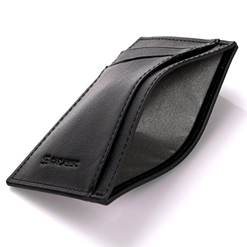 Pacasso RFID Front Pocket Wallet- Minimalist Wallet- Slim Wallet Premium Top grain leather Genuine Card Holder