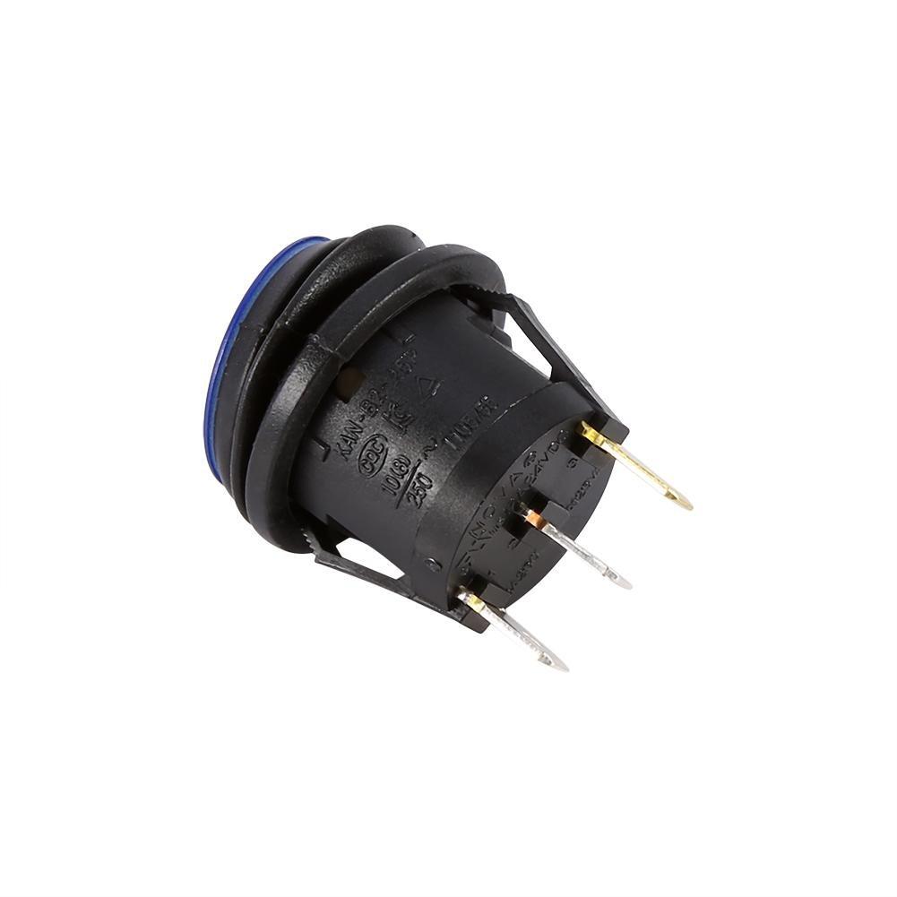 Interruptor de palanca basculante LED para Coche y Cami/ón 12V 16A 3 pines Interruptor de luz azul SPST Control de encendido y apagado