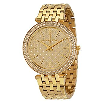 Michael Kors Womens Darci Gold-Tone Watch MK3398