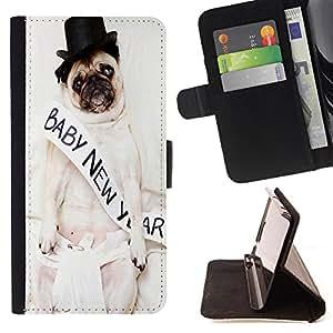 Dragon Case - FOR HTC One M9 - ?to have someone - Caja de la carpeta del caso en folio de cuero del tirš®n de la cubierta protectora Shell