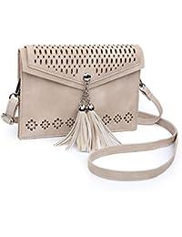 Women Small Crossbody Bag, Tassel Cell Phone Purse Wallet
