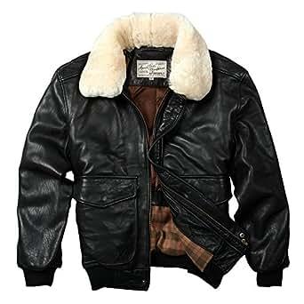 Avirex Fly Air Force Flight Jacket Fur Collar Genuine