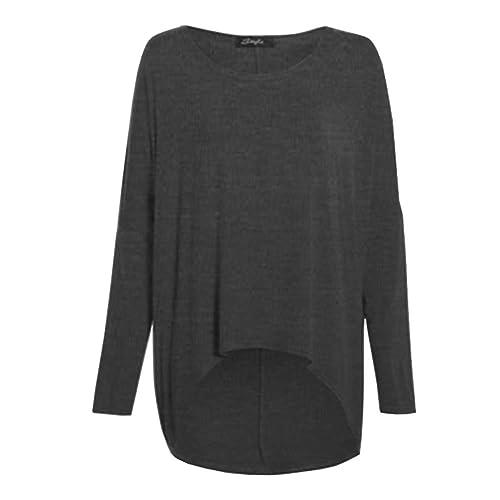 Jersey ancho de manga larga para mujer