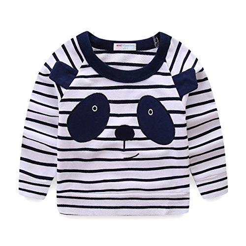 - Mud Kingdom Little Boy Sweatshirt Cute Panda Long Sleeve Size 5 Black