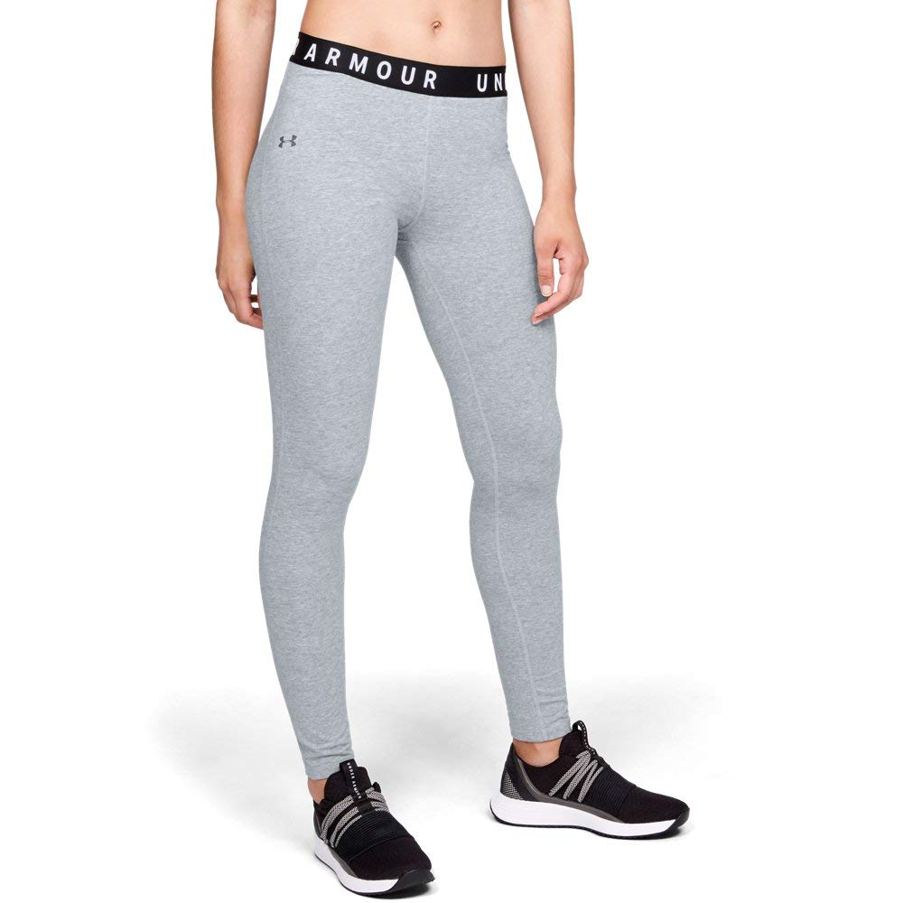 Under Armour Women's Favorite Leggings, Steel Light Heather (036)/Tonal, X-Small by Under Armour (Image #1)