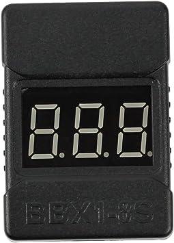 Opinión sobre QWinOut - Comprobador de batería LiPo, 2 en 1 RC 1-8S, monitor de probador de batería de baja tensión con indicador LED Altavoces duales para batería 1-8s Lipo/Li-ion/LiMn/Li-Fe