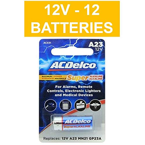 Door Battery Spare - ACDelco 12V Super Alkaline Batteries, 12Count