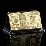 us gold bar - 2004 1 Ounce Gold Bar Alexander Hamilton Gold Clad $10 Brilliant Uncirculated